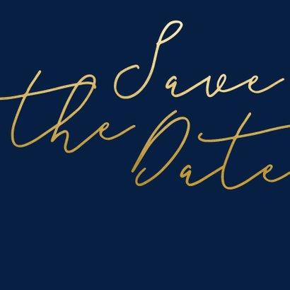 Save-the-Date-Karte Hochzeit Goldene Schrift 2