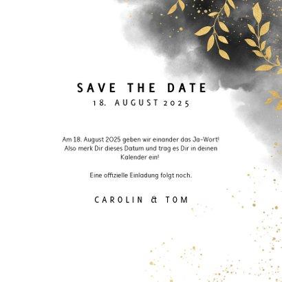 Save-the-Date-Karte Hochzeit mit Foto und Wasserfarben 3