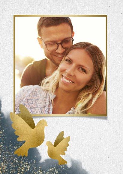 Save-the-Date-Karte Hochzeit mit Tauben & eigenem Foto 2