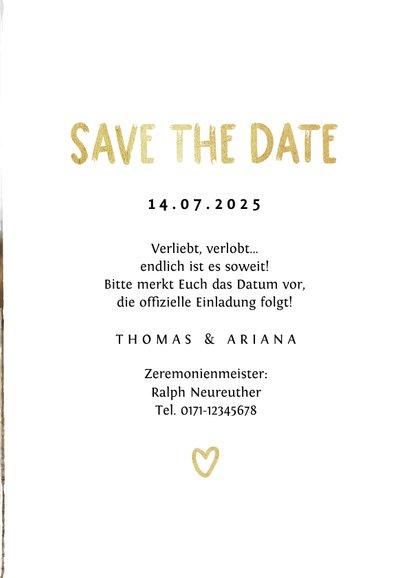 Save-the-Date-Karte Hochzeitsfeier Fotocollage Pinselstrich 3