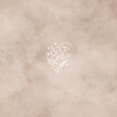 Save-the-Date-Karte zur Hochzeit altrosa Aquarell Rückseite