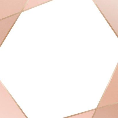 Save-the-Date-Karte zur Hochzeit geometrisch Rückseite