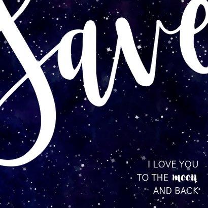 Save-the-Date-Karte zur Hochzeit im Galaxy Design 2