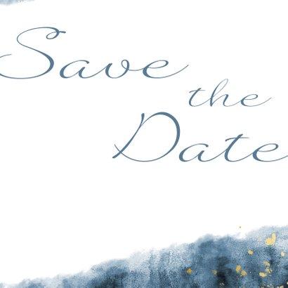 Save-the-Date-Karte zur Hochzeit mit Foto im Aquarelldesign 3