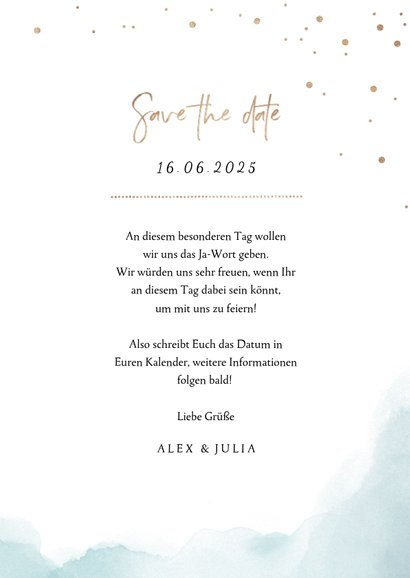 Save-the-Date-Karte zur Hochzeit Strandfeeling 3