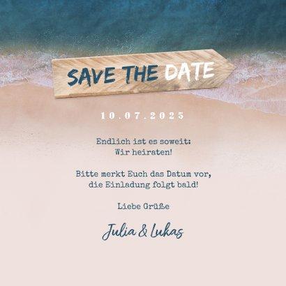 Save-the-Date-Karte zur Hochzeit Strandsommer 3