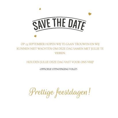 Save the Date Kerstkaart 02 3