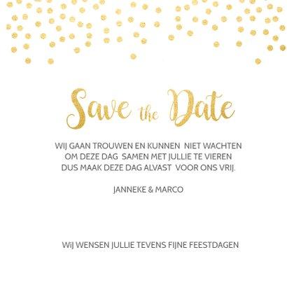 Save the date kerstkaart 3