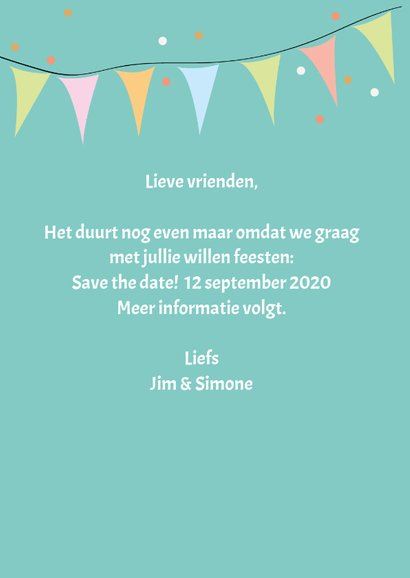 Save the date met drank en namen 3