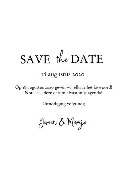 Save the date met foto en bijbeltekst 3