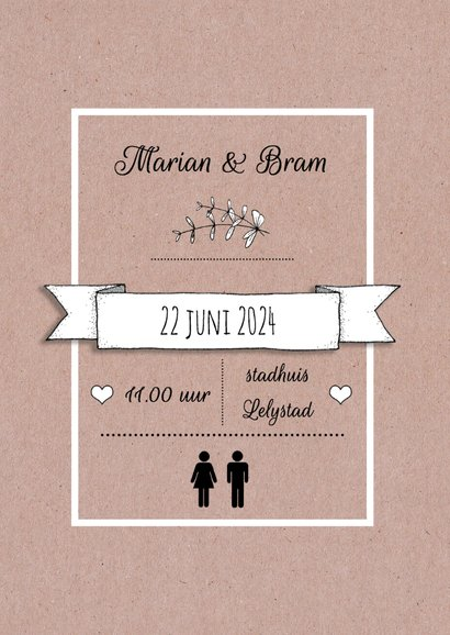 Save the Date papier tekst - HR 2