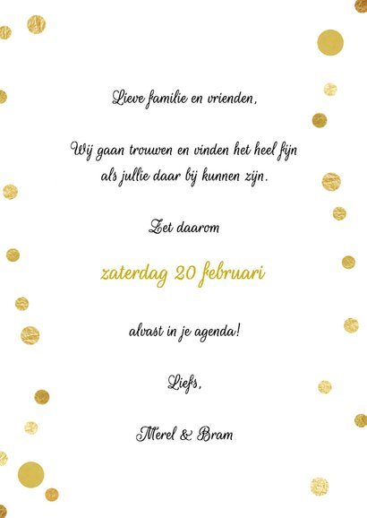 Save the Date stip goud - SG 3