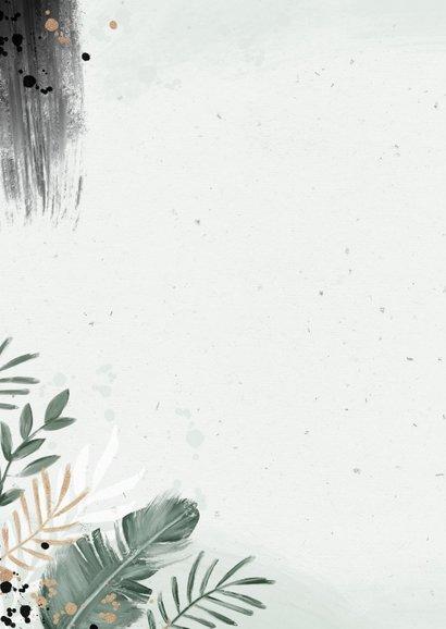 Save the date trouwkaart botanisch goud waterverf 2