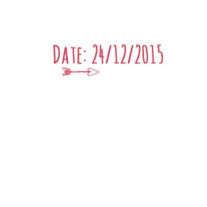 Save the date trouwkaart hartje 3