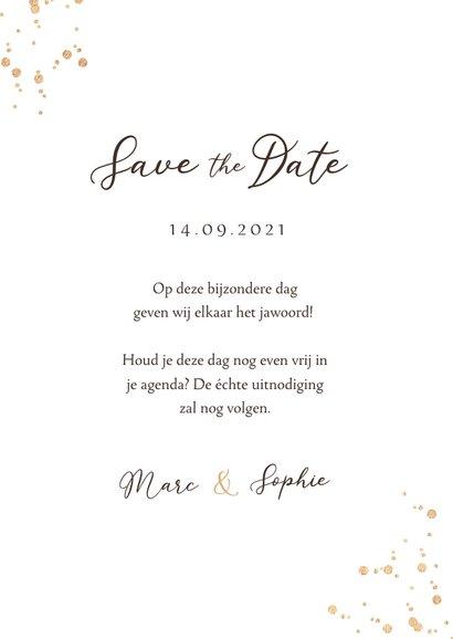 Save the date trouwkaart stijlvol droogbloemen waterverf 3