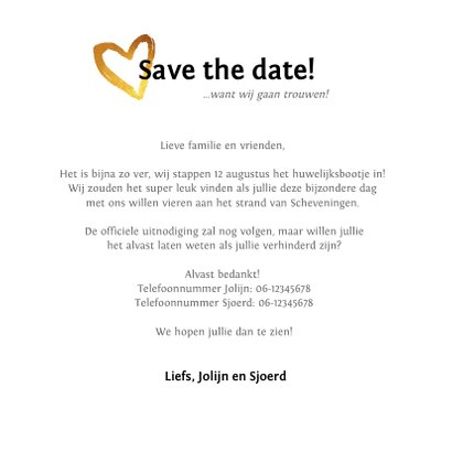 Save the date trouwkaart stijlvolle fotocollage 3