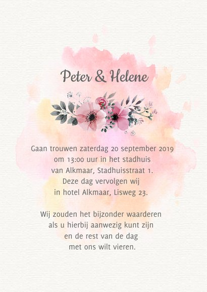 Save the date trouwkaart watercolour 3