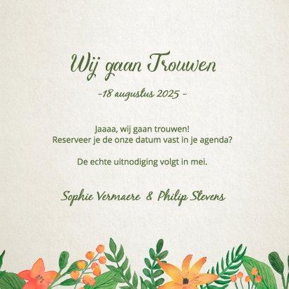Save the Date Vintage Bloemen 3