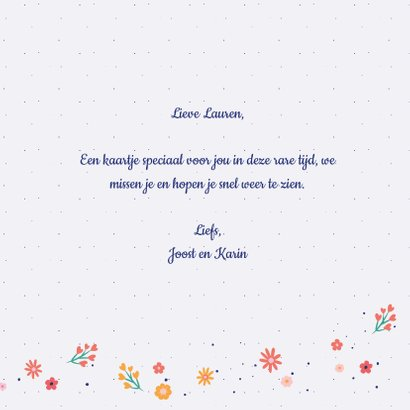 Sending you a smile - flowers and dots - zomaar kaart 3