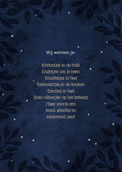 Sfeervolle blauwe kerstkaart foto nacht 2