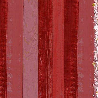 Sfeervolle foto kerstkaart rood  2