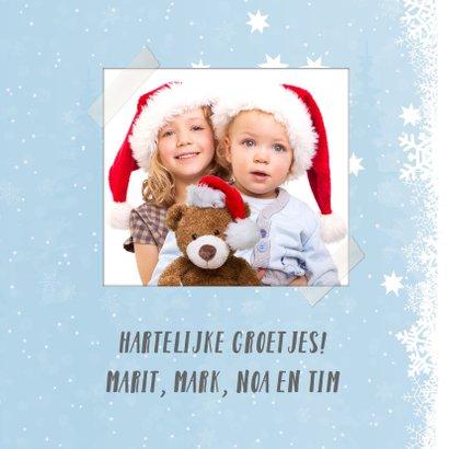 Sfeervolle kerstkaart met hertje en meesje 3