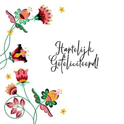 Sierlijke en kleurrijke verjaardagskaart met bloemen  2