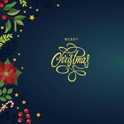 Sierlijke Merry Christmas kerstkaart  2
