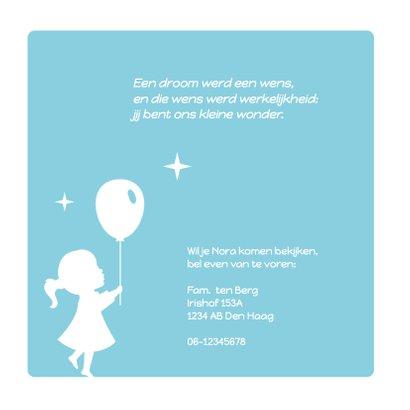 Silhouet geboortekaartje Ballon 2