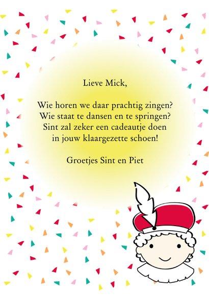 Sinterklaas en  Piet met het grote boek en eigen naam 3