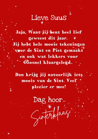 Sinterklaas in je schoentje 3