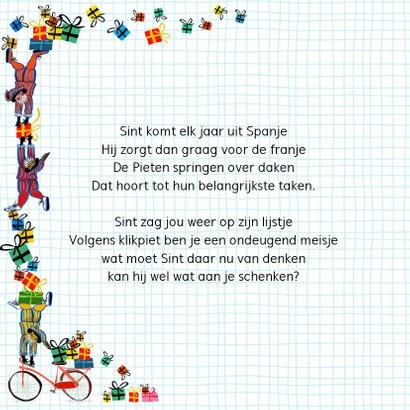 Sinterklaas kaart met chocolade letter B 2