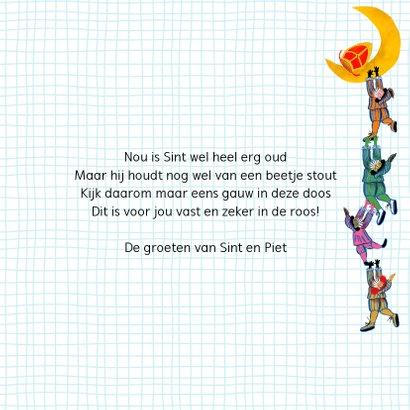 Sinterklaas kaart met chocolade letter B 3