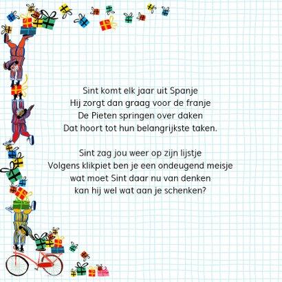Sinterklaas kaart met chocolade-letter D 2