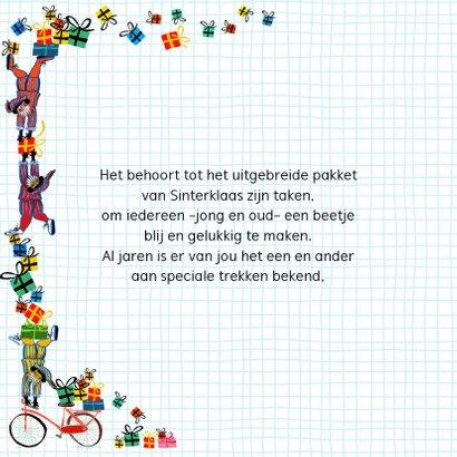 Sinterklaas kaart met chocolade-letter H 2