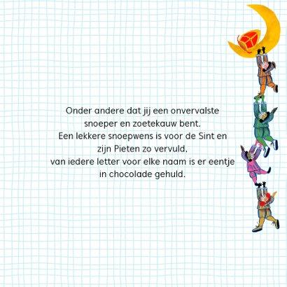 Sinterklaas kaart met chocolade-letter H 3