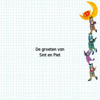 Sinterklaas kaart met chocolade-letter I 3