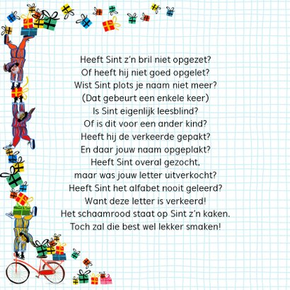 Sinterklaas kaart met chocolade-letter N 2
