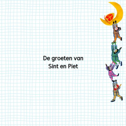 Sinterklaas kaart met chocolade-letter Q 3
