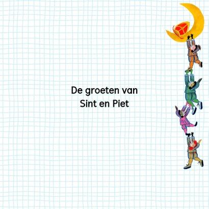 Sinterklaas kaart met chocolade-letter R 3