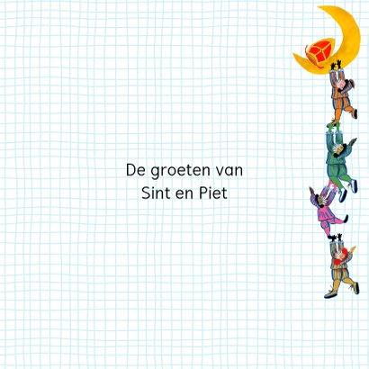 Sinterklaas kaart met chocolade-letter X 3