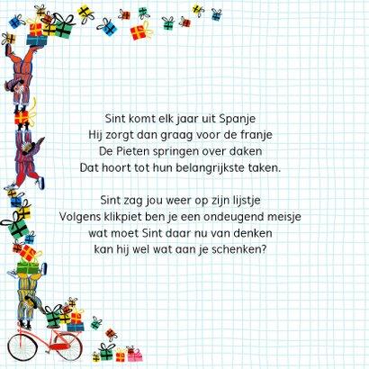 Sinterklaas kaart met letters Bla Bla 2