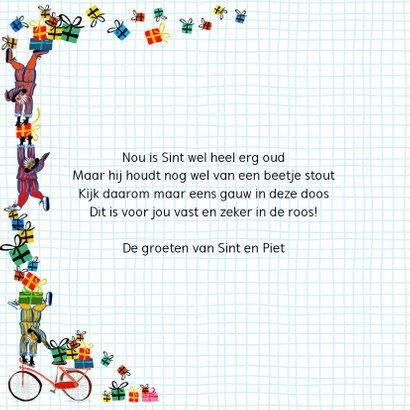 Sinterklaas kaart met tekst Zo Zo 2