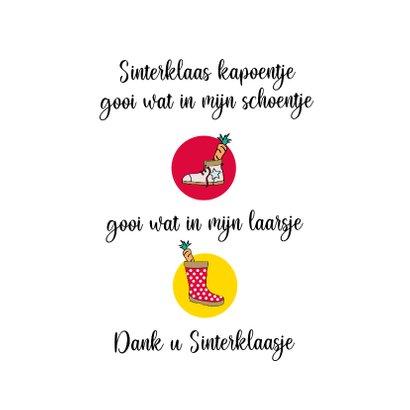 Sinterklaas kaart, Sinterklaas vraagt of je je schoen zet! 2