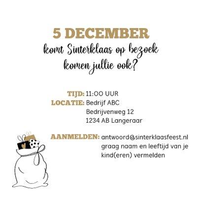 Sinterklaas uitnodiging voor het Sinterklaasfeest bij... 3