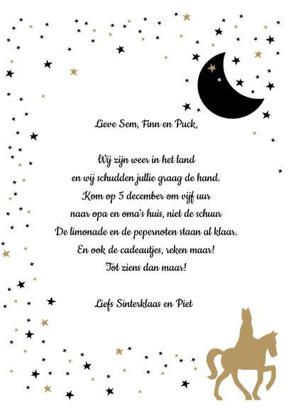 Sinterklaas uitnodiging voor pakjesavond 3