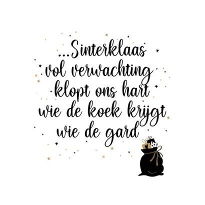 Sinterklaas uitnodiging voor sinterklaasavond met liedje 2