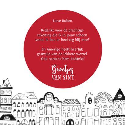 Sinterklaaskaart brief van Sint wortel tekening 3