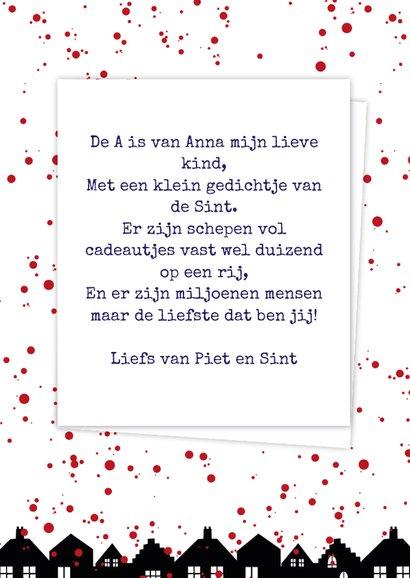 Sinterklaaskaart choco A 3