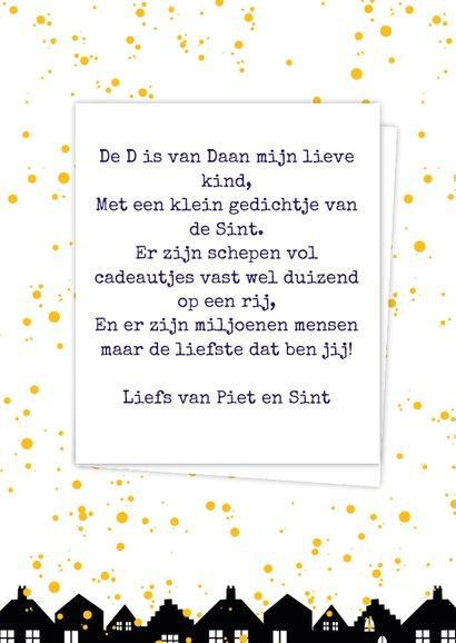 Sinterklaaskaart choco D 3